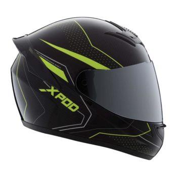TVS Racing XPOD Blistering Black Fluorescent Yellow Full Face Helmet