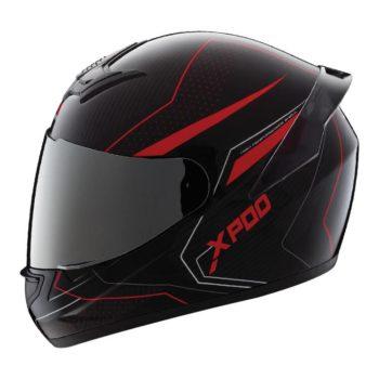TVS Racing XPOD Blistering Black Red Full Face Helmet 4