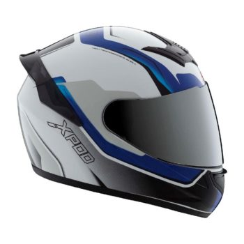 TVS Racing XPOD Speedy White Blue Full Face Helmet