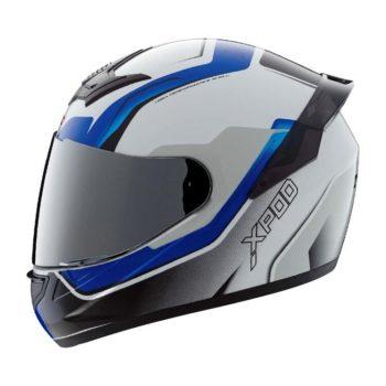 TVS Racing XPOD Speedy White Blue Full Face Helmet 4