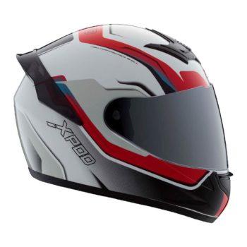 TVS Racing XPOD Speedy White Red Full Face Helmet