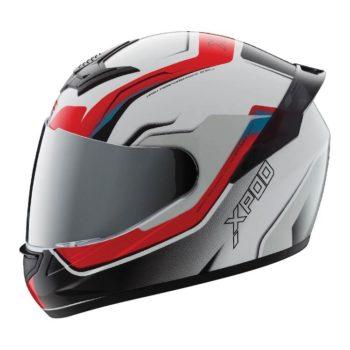 TVS Racing XPOD Speedy White Red Full Face Helmet 4