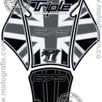 Motografix Black Tank Pad Triumph Daytona Street Triple 675 2012 13