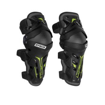 Rynox Bastion Bionic Black Fluorescent Yellow Knee Guards