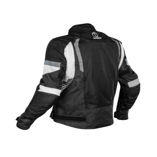 Rynox Tornado Pro V4 Black White Riding Jacket 1