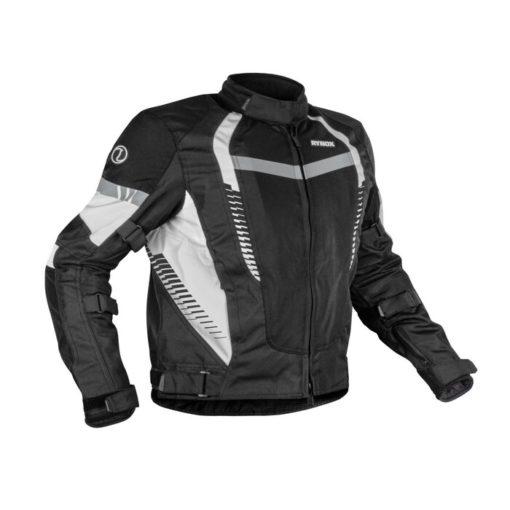 Rynox Tornado Pro V4 Black White Riding Jacket