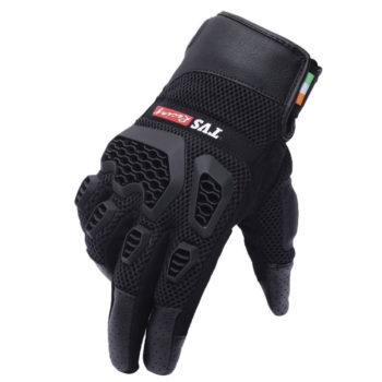 TVS Racing Adventure Black Riding Gloves