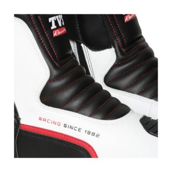 TVS Racing Black White Red Riding Boots 4