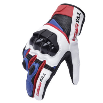 TVS Racing Race Black White Riding Gloves