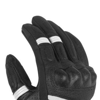 Rynox Air GT Motorsports Black White Riding Gloves 2